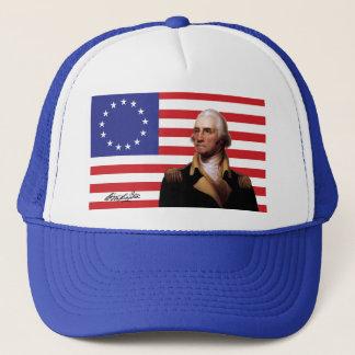 Gorra De Camionero George Washington y bandera de 13-Star los