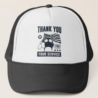 Gorra De Camionero Gracias por su servicio