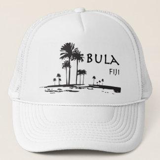 Gorra De Camionero Gráfico de la palmera de Bula Fiji
