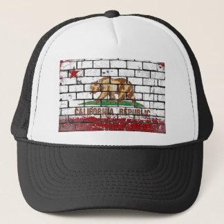 Gorra De Camionero Grunge de la pared de ladrillo de la bandera de