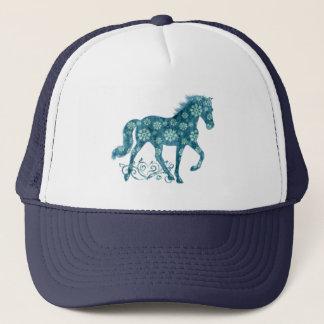 Gorra De Camionero Grunge verde azulado del caballo de Tennessee que