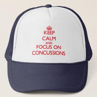 Gorra De Camionero Guarde la calma y el foco en conmociones