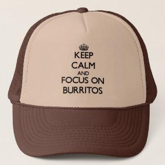 Gorra De Camionero Guarde la calma y el foco en los Burritos