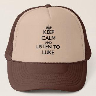 Gorra De Camionero Guarde la calma y escuche Lucas