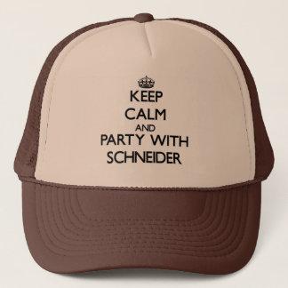 Gorra De Camionero Guarde la calma y vaya de fiesta con Schneider