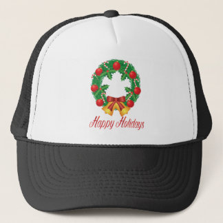 Gorra De Camionero Guirnalda del navidad con los ornamentos Belces y