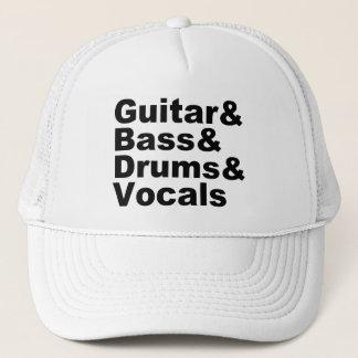 Gorra De Camionero Guitar&Bass&Drums&Vocals (negro)