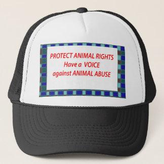 Gorra De Camionero Hábitat de vida de los Derechos-Healty animales en