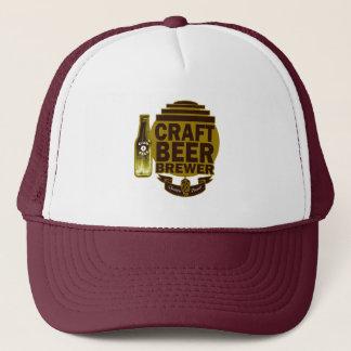 Gorra De Camionero Haga al cervecero de la cerveza a mano - logotipo