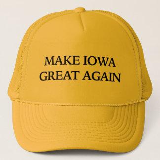Gorra De Camionero Haga Iowa grande otra vez