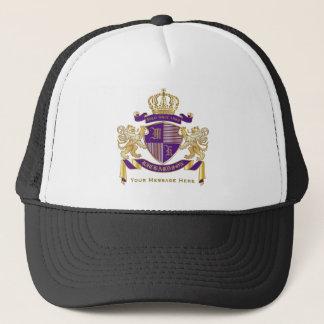 Gorra De Camionero Haga su propio emblema de la corona del monograma