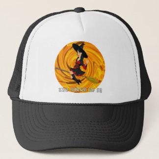 Gorra De Camionero Halloween la bruja está adentro