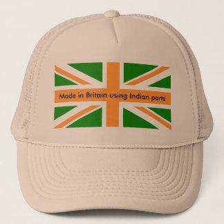 Gorra De Camionero Hecho en Gran Bretaña usando partes indias