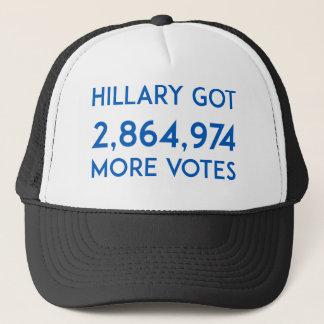 Gorra De Camionero Hillary consiguió más votos