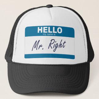 Gorra De Camionero hola mi nombre es Sr. la derecha