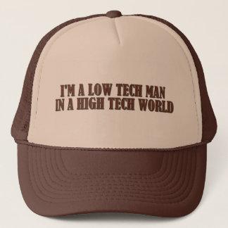 Gorra De Camionero Hombre bajo de la tecnología en un mundo de alta
