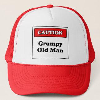 Gorra De Camionero Hombre gruñón de la precaución viejo