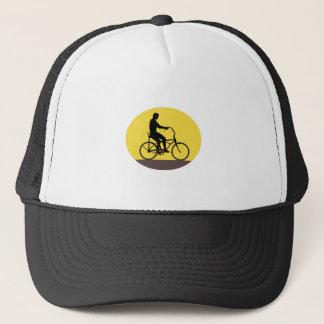 Gorra De Camionero Hombre que monta el óvalo fácil Retr de la silueta