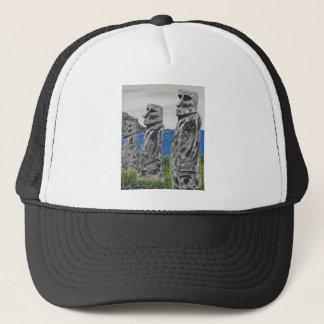 Gorra De Camionero Hombres de la piedra de la isla de pascua