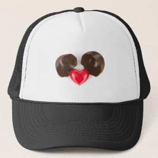 Gorra De Camionero Huevo y corazón de chocolate