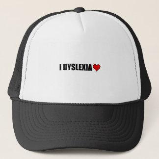 Gorra De Camionero I corazón del amor de la dislexia