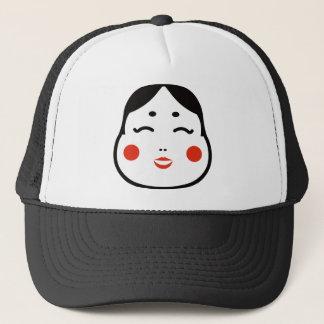 Gorra De Camionero ilustracion japonés de la cara del okame del