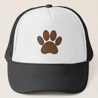 Gorra De Camionero Impresión de la pata del perro del pixel
