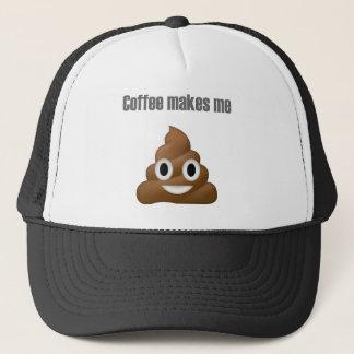 Gorra De Camionero Impulso-emoji hilarante del café - diseño del