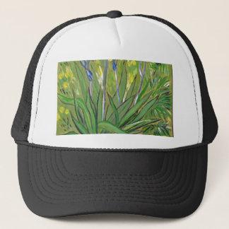 Gorra De Camionero Iris del arte de Van Gogh, reproducción de