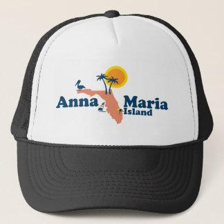 Gorra De Camionero Isla de Ana Maria - diseño del mapa