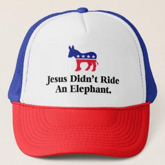 Gorra De Camionero Jesús no montó un elefante - GOP anti del triunfo