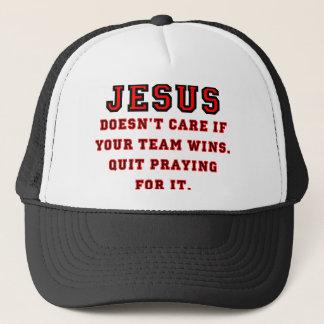 Gorra De Camionero Jesús: No un negro y un rojo de la fan de deportes