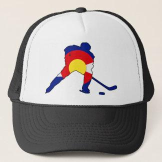 Gorra De Camionero Jugador de hockey de Colorado