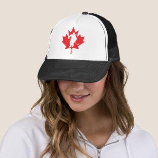 Gorra De Camionero Jugador de la hoja de arce del hockey de Canadá de