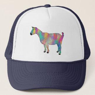 Gorra De Camionero La cabra multicolora con la pintura salpica el