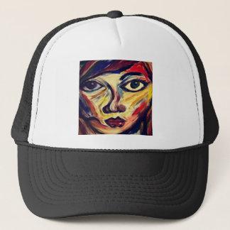 Gorra De Camionero La cara de la mujer abstracta