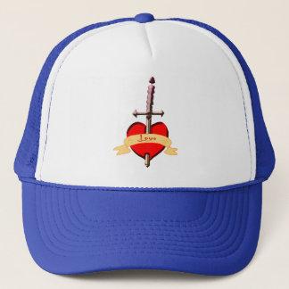 Gorra De Camionero la daga del amor perforó el corazón
