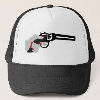 Gorra De Camionero La mano y el arma de la mujer