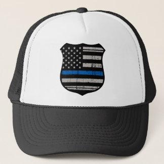 Gorra De Camionero La policía Badge Blue Line