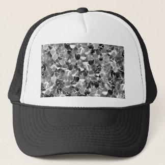Gorra De Camionero La sirena abstracta blanco y negro escala el