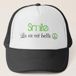 Gorra De Camionero La vida de la sonrisa es hermosa. Paz