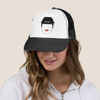 Gorra De Camionero Labios de la cara del casco del hockey de las