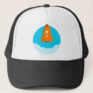 Gorra De Camionero Lanzamiento de la nave de Rocket