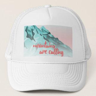 Gorra De Camionero Las montañas están llamando diseño de la
