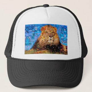Gorra De Camionero león - collage del león - mosaico del león - león