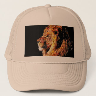 Gorra De Camionero León salvaje - collage del león - mosaico del león