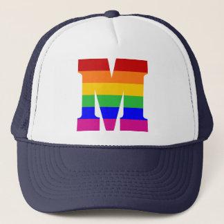 Gorra De Camionero Letra M del arco iris