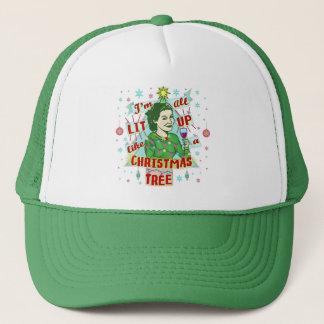 Gorra De Camionero Lit de consumición retro de la mujer del humor del