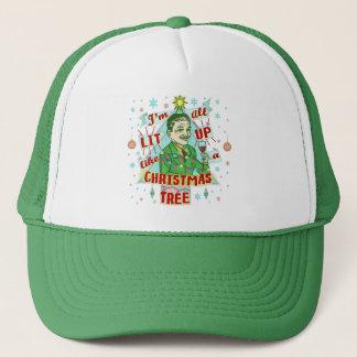 Gorra De Camionero Lit de consumición retro del hombre del humor del