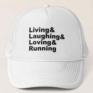Gorra De Camionero Living&Laughing&Loving&RUNNING (negro)
